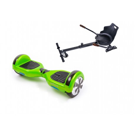 Package Smart Balance™ Hoverboard 6.5 inch, Regular Green + Hoverseat, Motor 700 Wat, Bluetooth, LED