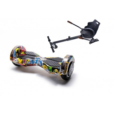 Package Smart Balance™ Hoverboard 6.5 inch, Transformers HipHop + Hoverseat, Motor 700 Wat, Bluetooth, LED