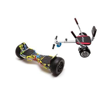 Smart Balance™ Hoverboard 8.5 inch, Hummer HipHop + Hoverseat with Sponge, Motor 700 Wat, 36V 4Ah, Bluetooth, LED