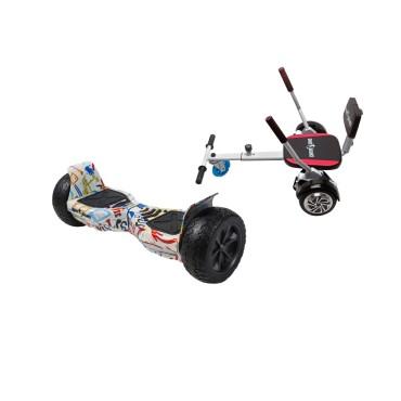 Smart Balance™ Hoverboard 8.5 inch, Hummer Splash + Hoverseat with Sponge, Motor 700 Wat, 36V 4Ah, Bluetooth, LED