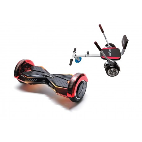 Package Smart Balance™ Hoverboard 6.5 inch, Transformers Sunset + Hoverseat with Sponge, Motor 700 Wat, LED