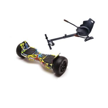 Smart Balance™ Hoverboard 8.5 inch, Hummer HipHop + Hoverseat, Motor 700 Wat, 36V 4Ah, Bluetooth, LED