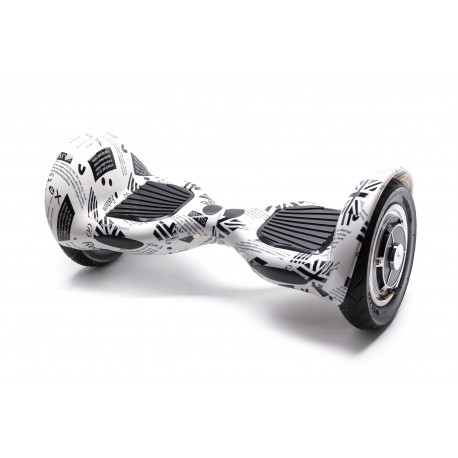 Smart Balance™ Hoverboard 10 inch, OffRoad News Paper, Motor 700 watt, Battery 4 Ah, Bluetooth, Leds
